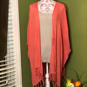 Loose tunic jacket or cover up
